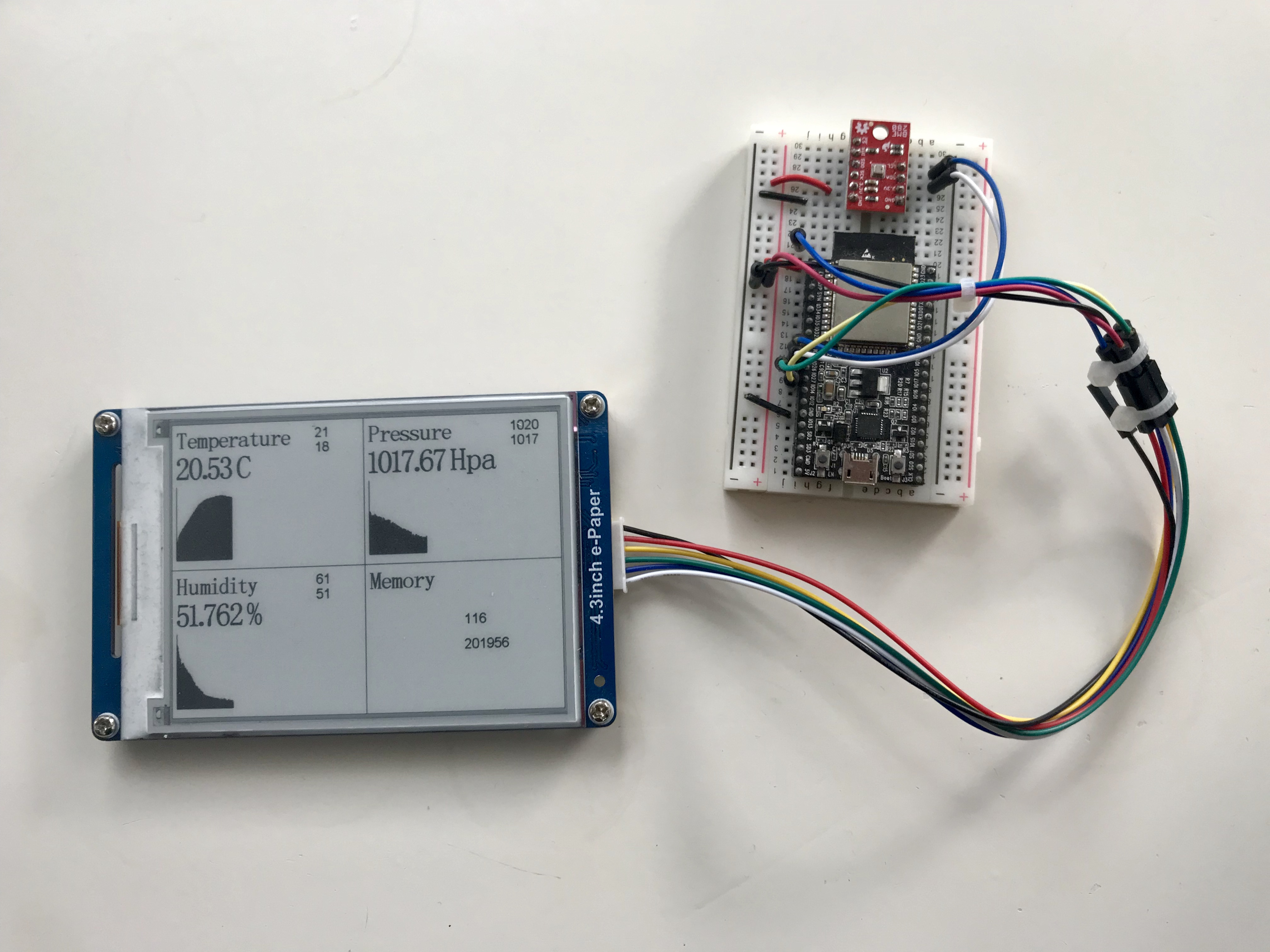 Data logger with E-paper display