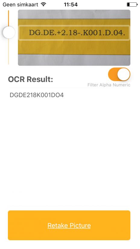 Tesseract IOS App - Filter on
